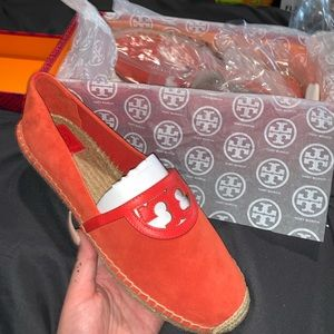 Tory Burch Red/Orange Slip Ons/Flats